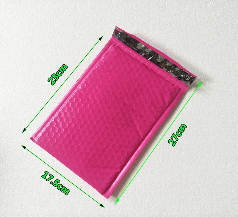 50pcs Outer Size 175*270mm Rose <font><b>Pink</b></font> Poly <font><b>Bubble</b></font> <font><b>Mailer</b></font> Self Seal Padded Envelopes Usable size 155*230mm image