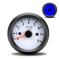 """Universel 2 """"52mm 12V bleu LED 0 ~ 8000 tr/min tachymètre de voiture Tach jauge mètre avec capteur pour voiture à essence/camion/ATV tacometro RPM"""