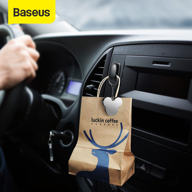 Baseus 4Pcs Hooks for Home Car USB Cable Headphone Key Organizer Hanging Holder Hanger Wall Hook Home Appliances Accessories