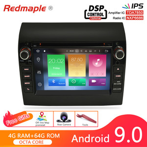 4G RAM Android 9.0 Car Radio DVD Player GPS Multimedia Stereo For Fiat Ducato 2008-2015 Citroen Jumper Peugeot Boxer Navigation(China)
