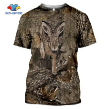 SONSPEE Summer Casual Men T shirts Camo Hunting Animals Rabbit 3D T-shirt Fashion Streetwear Women Pullover Short sleeve Tee Top