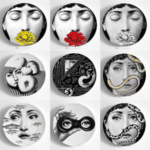 Variety Lina Face Decorative Plate Morden and Retro Ceramic Wall Hanging Dish Human Lady Portrait Painting Plates Creative Craft