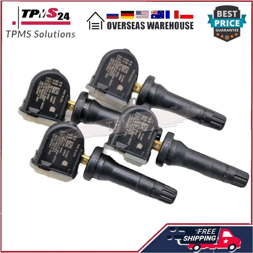 4PCS TPMS Tire Pressure Monitor Sensor F2GT-1A180-AB For 2015-2018 Ford Edge Galaxy F-150 Mustang Explorer 315MHZ  F2GZ1A189A