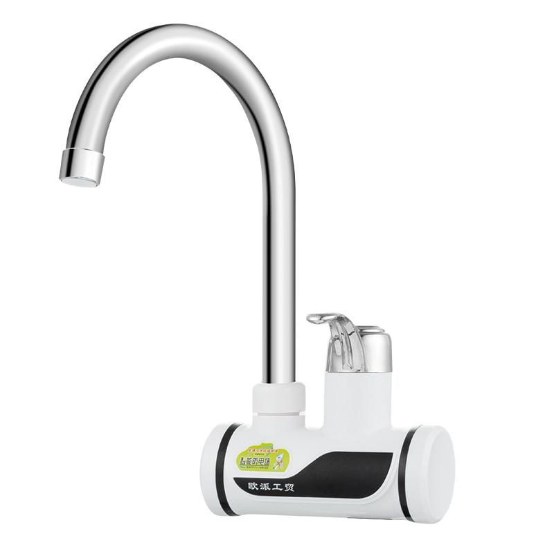 Robinet d'eau chaude instantanée chauffe-eau électrique cuisine chauffe-eau robinet de chauffage froid sans réservoir instantané piscine douche mélangeur