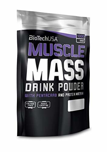 Muscle Mass Chocolate 1000g - Gainer For Mass Build-up - BiotechUSA