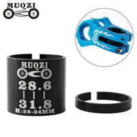 MUQZI-Adaptador de eje de manillar de bicicleta, 1 Juego, 28,6 a 31,8mm, cambio de conversión de bicicleta de montaña o carretera, reductor de horquilla de aleación de aluminio