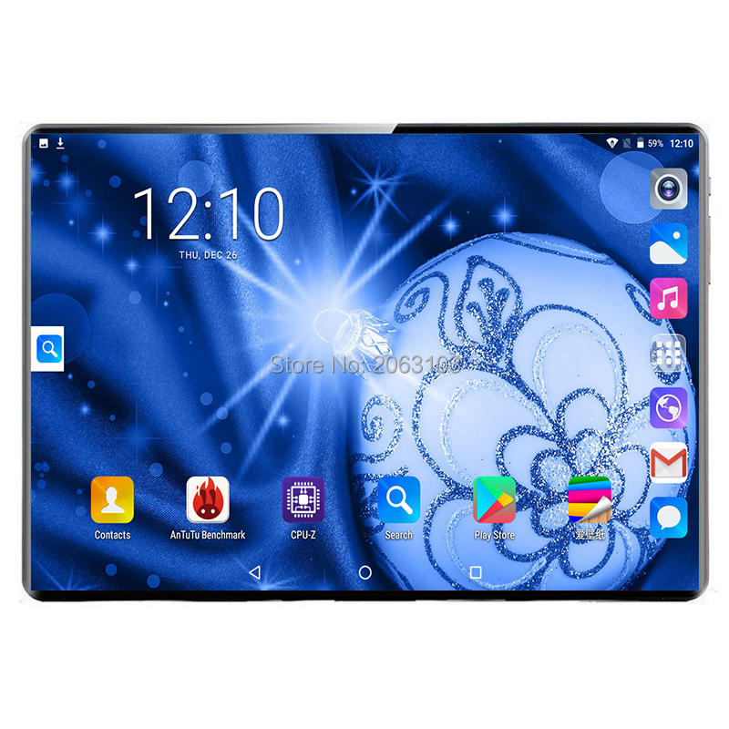 2020 New Arrived 10.1 Inch Tablet PC Deca Core Android 9.0 WiFi Dual SIM Cards 3G 4G LTE Tablets 8GB RAM 128GB ROM 1920x1200 10