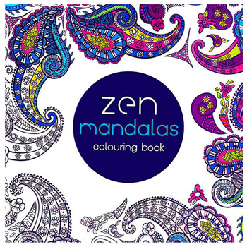 1 Book/24 Pages Children'S Drawing Mandala Book Adult Decompression Art Hand-Painted Graffiti Book School Office Supplies 1