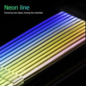Image 5 - כוח RGB PSU קו 24Pin ניאון קו כוח RGB PSU קו מחשב לוח האם כוח הארכת מתאם כבל עבור E ATX/ATX/מיקרו ATX