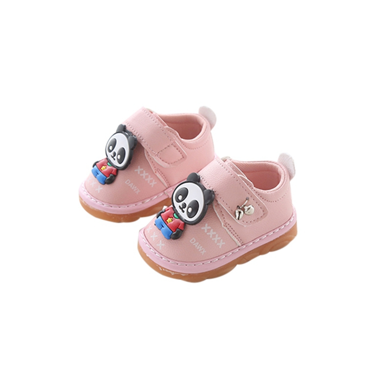 Toddler Infant Shoes Kids Baby Boys Girls Cartoon Anti-slip Shoes Soft Sole Squeaky Sneakers Shoes