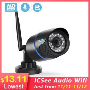 Image 1 - BESDER 5MP IP המצלמה Wifi חיצוני IR ראיית לילה Onvif P2P אודיו טלוויזיה במעגל סגור מצלמה כרטיס Sd 1080p HD אלחוטי Icsee וידאו מעקב