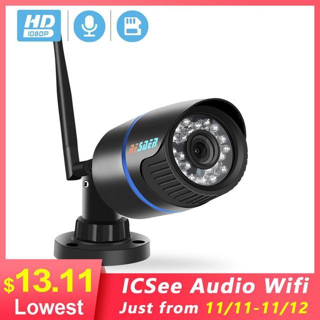BESDER 5MP IP המצלמה Wifi חיצוני IR ראיית לילה Onvif P2P אודיו טלוויזיה במעגל סגור מצלמה כרטיס Sd 1080p HD אלחוטי Icsee וידאו מעקב