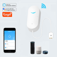 Simple Compact Wifi Leak Detector Sensor Google Home Tuya Smart Home Water Alarm Waterproof Leak Alarm