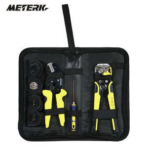Meterk Professional 4In1 Multi Wire Crimper Tools Kit Engineering Ratchet Terminal Crimping Plier with Wire Stripper Screwdriver