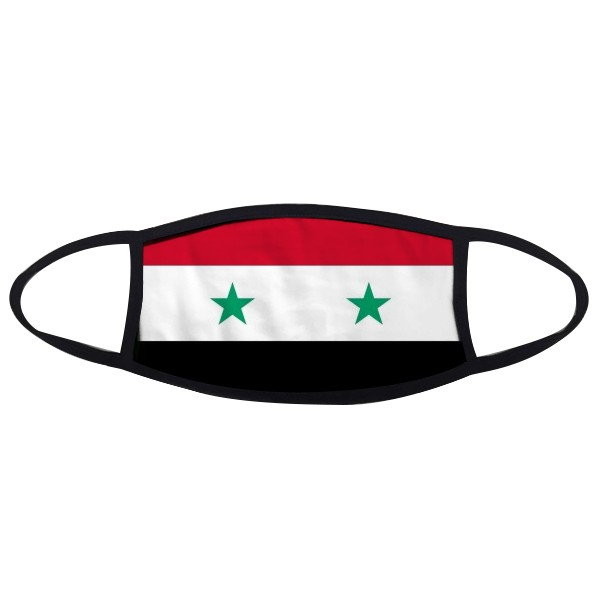 Syria National Flag Asia Country Symbol Mark Pattern Face Anti-dust Mask Anti Cold Maske