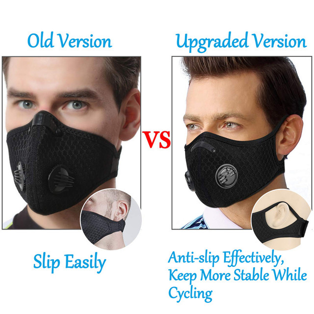 5 filter + 1masks Activated bamboo carbon 5-layer prevention bacterial face Masks Anti-dust Safe PM2.5 protective mask Respirato 3