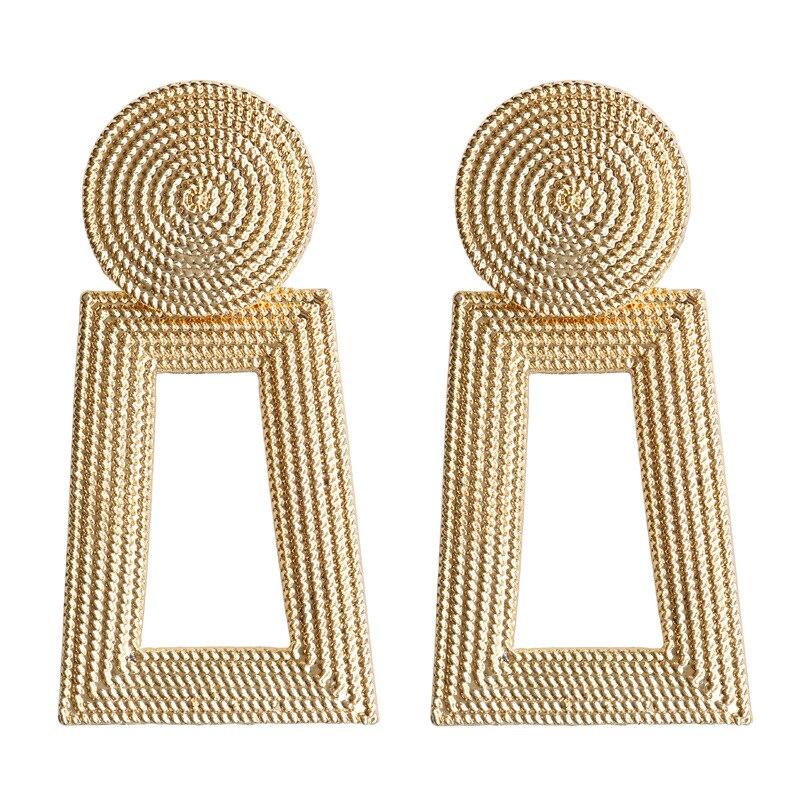 Mostyle 30 стилей модные большие винтажные золотые серебряные розовые золотые геометрические массивные металлические Висячие серьги для женщин - Окраска металла: 62928