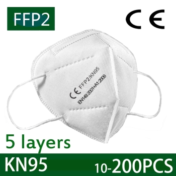 KN95 Face Masks FFP2 Filtration Mouth Masks 5-Layer Mouth Muffle Cover Mask Dustproof Anti-fog And Breathable image