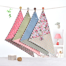 10Pcs Dog Bandana Small Floral Twill Double-sided Triangle Scarf Dog Bibs Bowties Cotton Pet Puppy Kerchief Dog Accessories