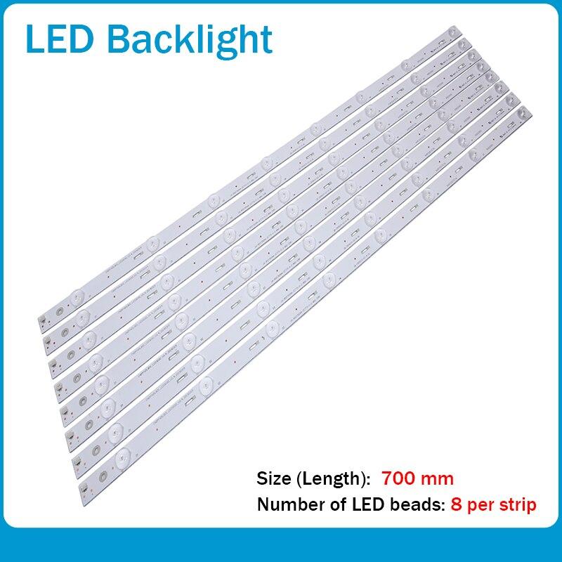 New 16pcs/set LED Backlight Strips For Changhong 65S1 Lamp Chdmt65lb01_led3030_v00.4_20150212