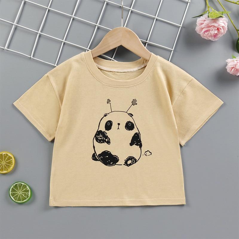 T shirt kids t-shirt baby cute kids plain t shirt Summer Children Outerwear pink yellow wholesale clothing dropshipping 1