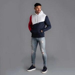 Image 2 - Толстовка мужская для фитнеса, Модный свитшот с капюшоном, брендовый пуловер для воркаута, уличная одежда, осень зима