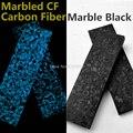 2Pcs Nachtleuchtende Marmoriert CF Carbon Fiber Block Welligkeit Harz Werkzeug für DIY Messer Griff Handwerk Liefert blau/green137x40x5mm-in Messer aus Werkzeug bei
