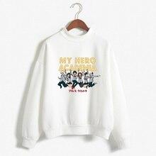 2019 Women New Japanese Manga My Hero Academia Printed Cozy Sweatshirts Fashion Vintage Plus Size O-Neck
