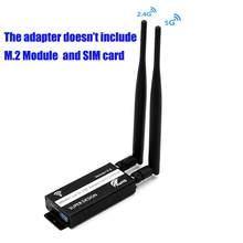 Antena portátil ngff m.2 a 3.0 conversor de adaptador usb com slot para cartão sim para wwan/lte/4g módulo sinal estável
