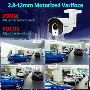 Image 2 - Miecu cámara IP H.265 de 4MP con Zoom óptico automático, conjunto de 2,8mm 12mm, Led IR nocturna, para exteriores, Metal, antivandal, videovigilancia