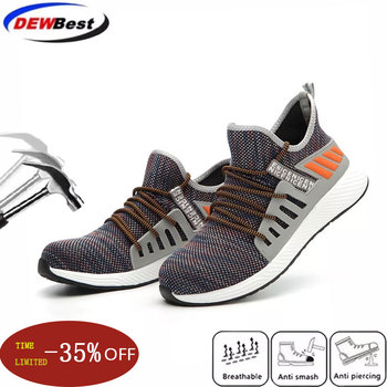 2020 CE approved Steel Toe Men's Outdoor  Anti Slip Breathable Protective Work Shoes Boots Men's Puncture Proof Safety Shoes