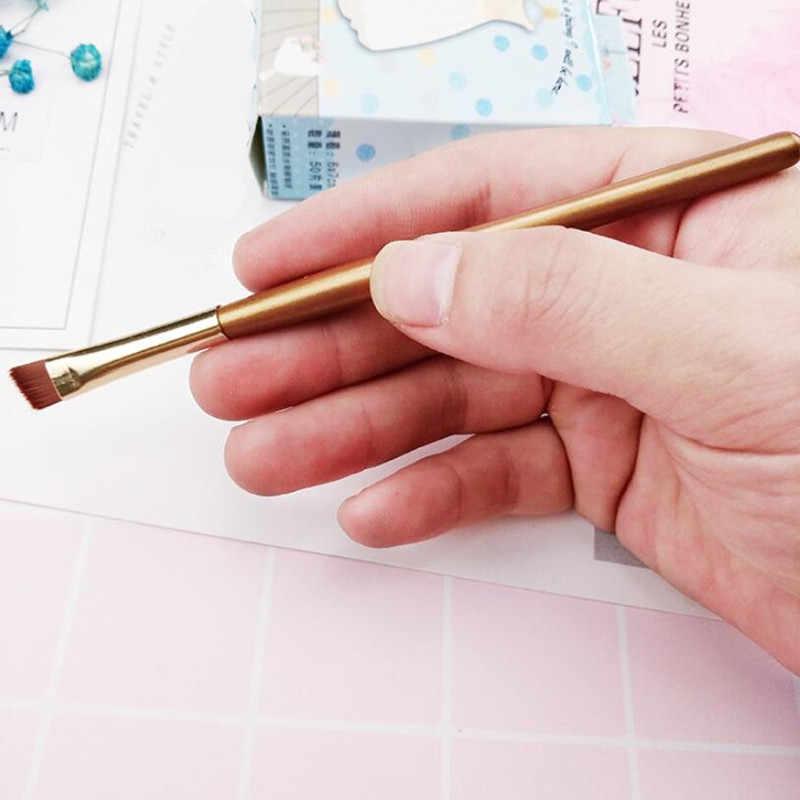 1 Pcs עין מברשת איפור מברשות מברשות הוכפל הסתיים צלליות צלליות איפור קוסמטי מברשת כלי שמפניה זהב איפור מברשת