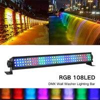 108 LED RGB lámpara de lavado de pared LED etapa luz Navidad atmósfera barra luz DMX arandela de pared barra de iluminación Efecto de iluminación de escenario     -