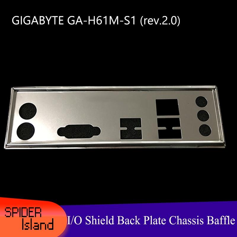 Nouveau support de châssis de plaque arrière de bouclier de/s de carte mère pour fond de panier de bouclier GIGABYTE GA-H61M-S1 (rev.2.0)