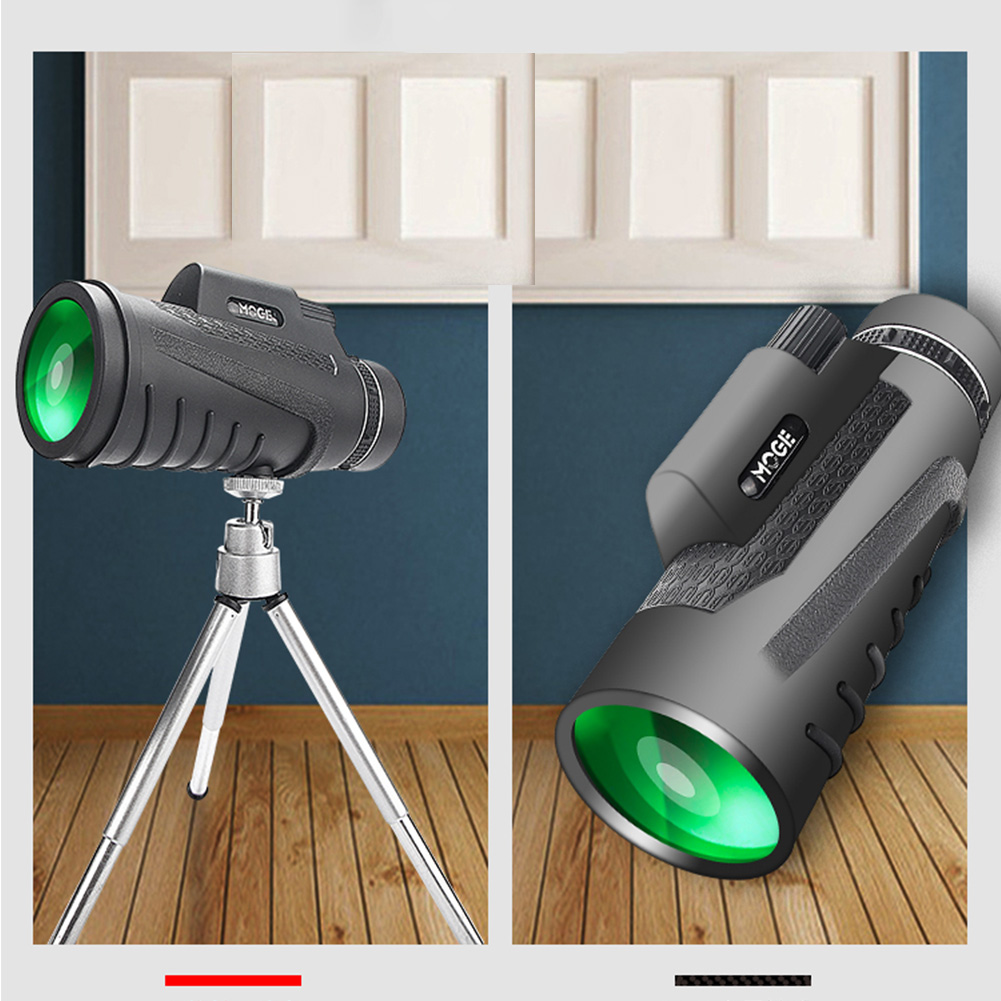 40x60 Monocular Telescope Dual Focus Optics Zoom Day & Night Vision Waterproof Handheld Monocular Telescope For Hiking Hunting
