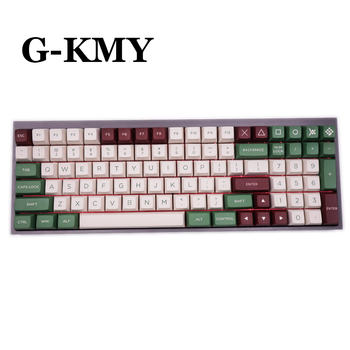 G-MKY OSA GREEN CAMP KEYCAP PBT DOUBLE SHOT Keycap FOR Cherry MX switch keycaps for Wired USB Mechanical Gaming keyboard pro wired rgb mechanical keyboard bluetooth wireless cherry switch gaming keyboard double shot backlit keycaps for gamer