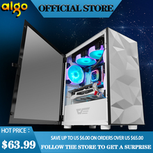 Aigo DLM21 desktop computer case gabinete pc gamer completo small mini matx/itx Water cooled chasis tempered glass gaming case