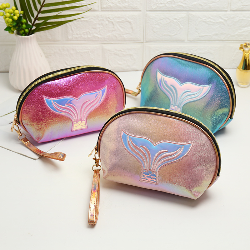 2020 New Fashion PU Leather Cosmetic Storage Bags Women Make Up Bag PVC Pouch Wash Toiletry Bag Travel Organizer Case