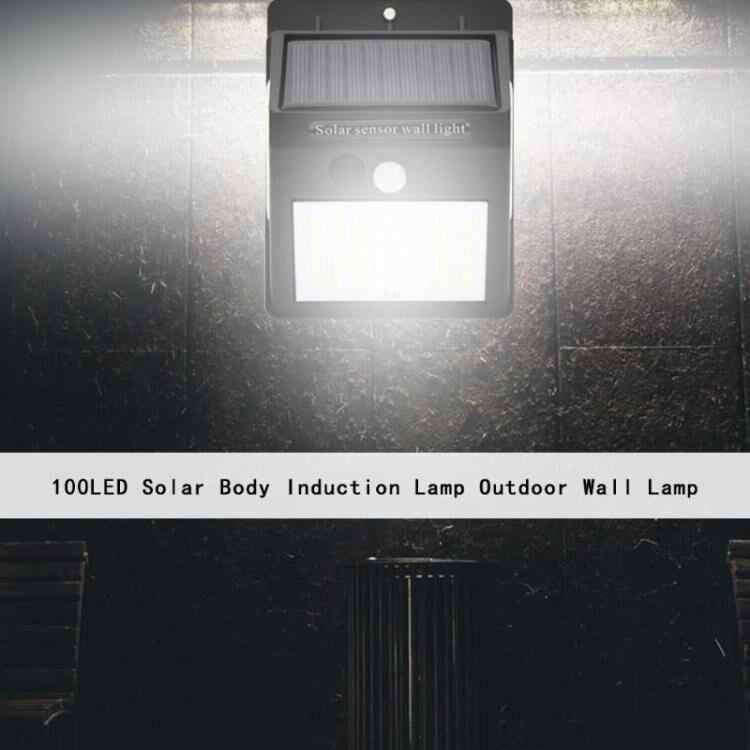 100 светодиодный солнечный свет уличная Солнечная Лампа PIR датчик движения настенный светильник водонепроницаемый Солнечный свет с управлением светом для украшения сада