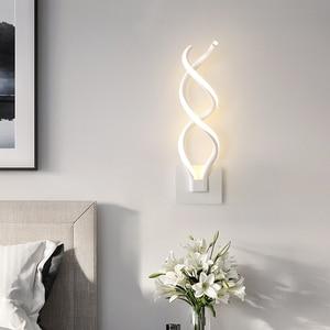 Image 5 - LED duvar lambası Modern duvar lambası yatak odası başucu okuma kapalı duvar lambaları oturma odası koridor otel odası aydınlatma dekorasyon