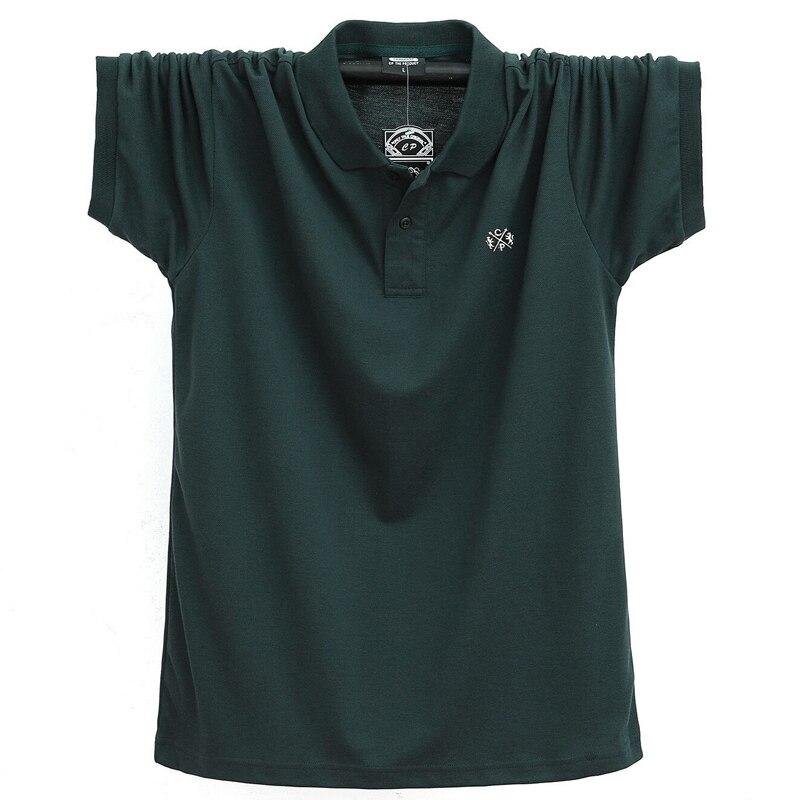 Плюс 6XL 5XL, есть большие размеры, летняя футболка поло для мужчин на каждый день; Хлопок; Для Цвет футболки поло для мужчин дышащая короткий рукав Футболка Смарт на каждый день