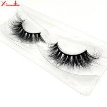 100% real mink hair 3D lashes wholesale natural long individual thick fluffy soft false eyelashes makeup dramatic J085