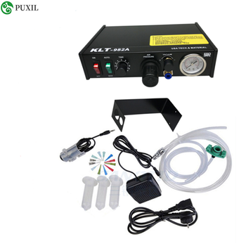 Automated glue dispenser liquid solder paste Semi automatic dispenser machine dropper controller