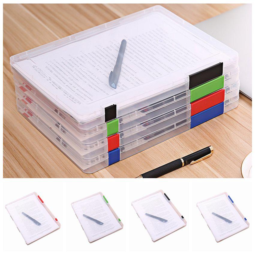 A4 Size Transparent Storage Box Clear Plastic Document Paper Filling File Case Portable Ducoment Storage Holder