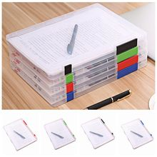 A4 Size Transparent Storage Box Clear Plastic Document Paper Filling File Case Portable Ducoment Holder