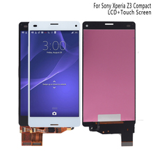 For Sony Xperia Z3 compact D5803 D5833 LCD Display Digitizer Sensor Glass Panel Z3 mini Assembly with Frame Phone Parts LCD 4 6 inch aaa display for sony xperia z3 compact lcd touch screen digitizer replacement for z3 mini d5803 d5833 lcd repair parts