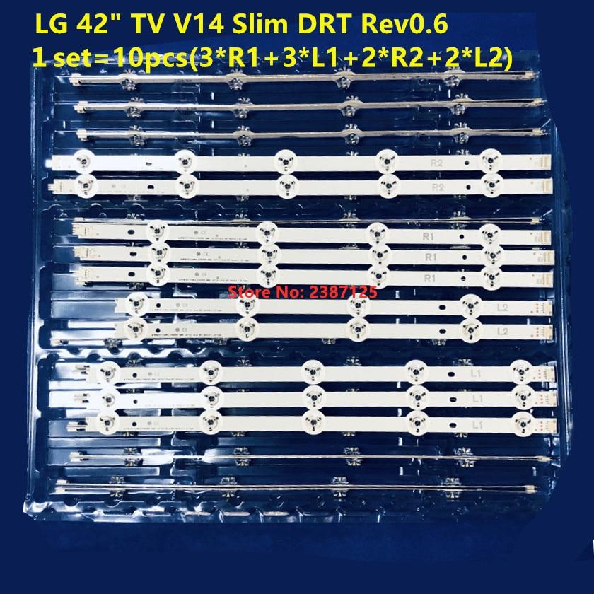 1set=10pcs LED Strip For LG 42'' TV 6916L-1683B 6916L-1685B 6916L-1682A 6916L-1684A 42LB700V 42LB671V 42LB720V 42LB730V 42LB690V