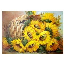 Diy Full Square Diamond Painting Cross Stitch Diamond Embroidery Crystal Round Sunflower Diamond Pictures sunflower diamond paiting flower diamond painting full cross stitch diamond painting full drill round
