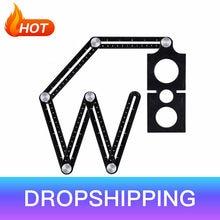 6-fold telha buraco localizador ferramenta ajustável alvenaria vidro ângulo fixo medição régua universal modelo angular dropshipping