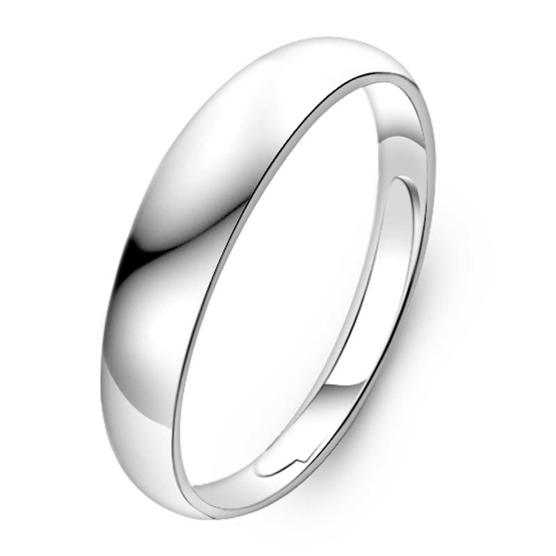 925 Steel Silver Color Smooth Wedding Couples Rings Bijouterie For Man Bague Silver 925 Gemstone Anillos De Wedding Ring